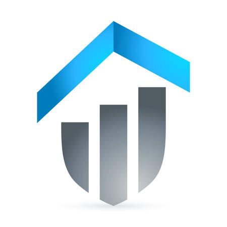 brokerage: housetop  real estate symbol Illustration