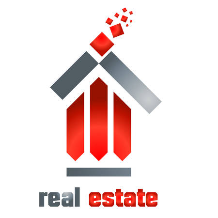 housetop: real estate symbol - vector illustration