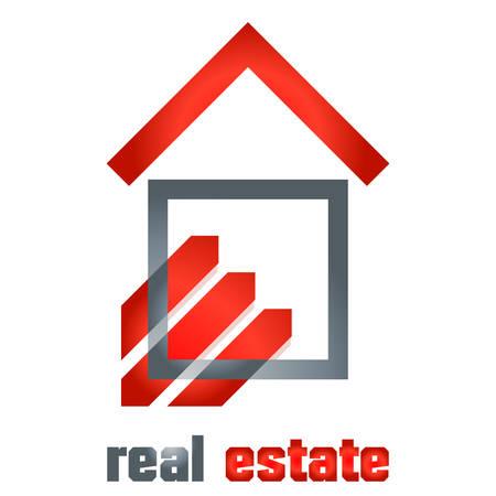 real estate symbol - vector illustration
