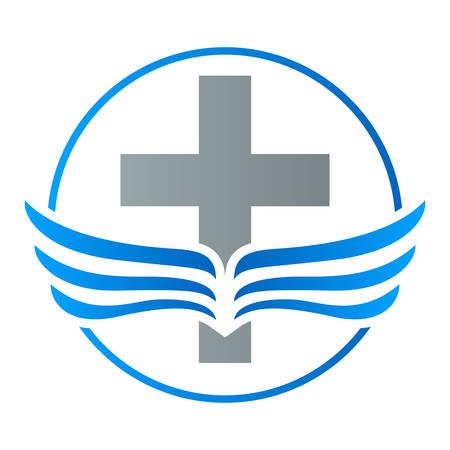 geloof kruis vleugels pictogram
