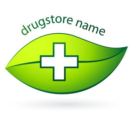 homeopathic: drugstore  pharmacy symbol - illustration
