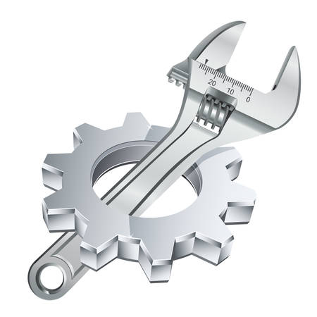 gear wheel: gear wheel and adjustable wrench