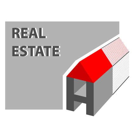 Huis, onroerend goed icoon Stockfoto