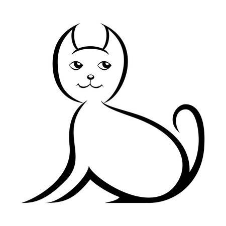 cat silhouette - vector illustration Illustration