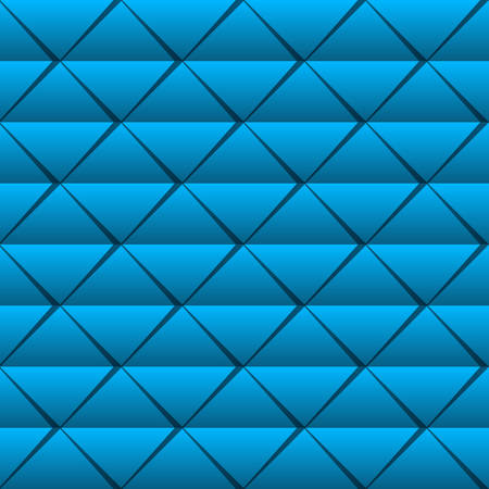 seamless pattern with blue triangles Illustration
