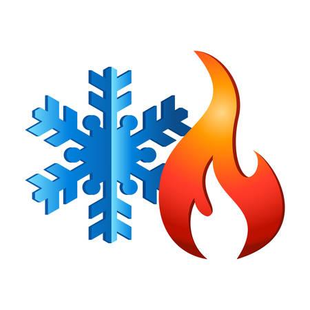 verwarming en koeling - logo-ontwerp