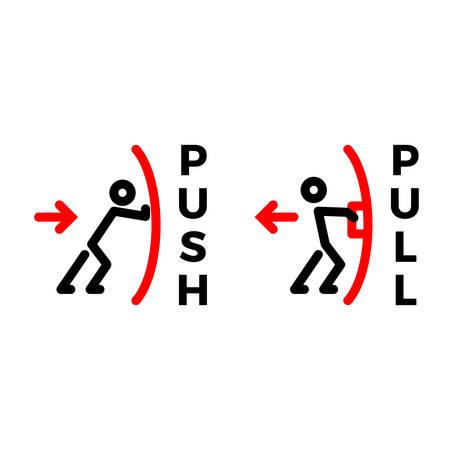 push pull output input teken Vector Illustratie
