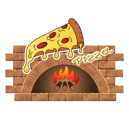 Wood stove with pizza