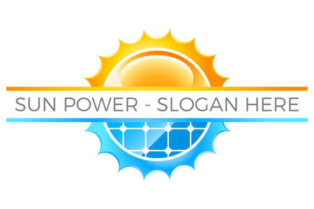 sun power logo with sun and photovoltaic system