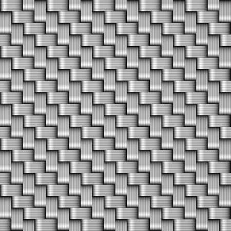 seamless background - wicker basket - braided Vecteurs