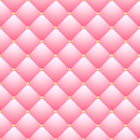 seamless, pink background, wallpaper - sofa, leather, couch - fabric, pattern, texture Vector Illustratie
