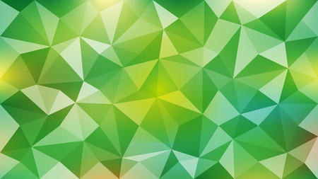 Background of abstract triangles of yellow-green color. Ilustração