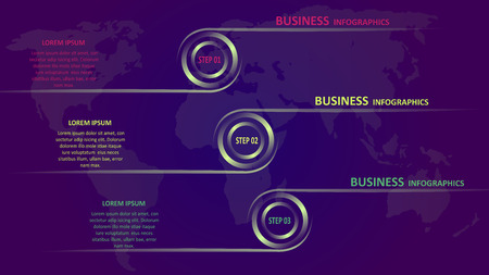 Business infographics in the form of colored arrows with text and icons. EPS 10