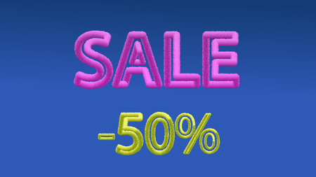 Vector color volumetric text sale. EPS 10.