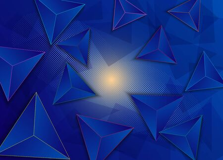 Abstract vector background of volumetric pyramids. EPS 10. Stock fotó - 131712885