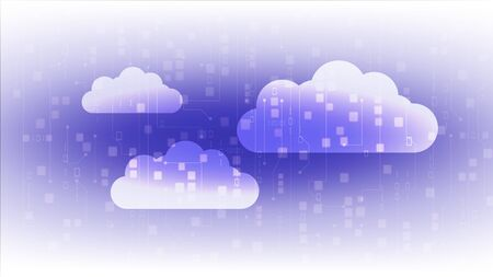 Abstract cloud technology background in internet network