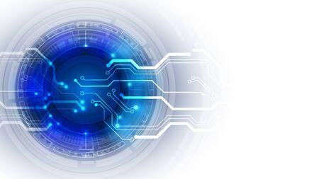 Interfaccia utente astratta HUD da elementi futuristici luminosi. EPS 10.
