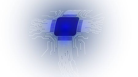 Abstract computer microprocessor circuit board vector background. Illustration
