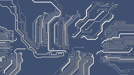 Illustration of abstract electrical board, circuit. Abstract science, futuristic, web network concept