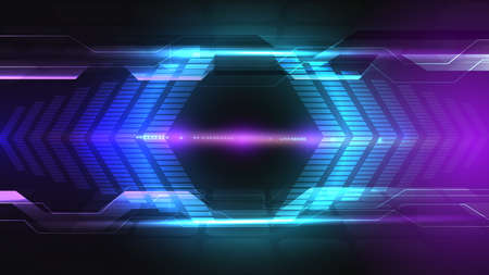 Abstract user HUD interface from glowing futuristic elements Imagens