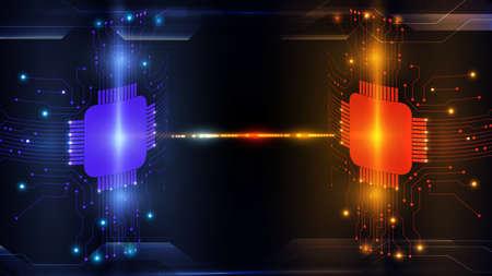 Abstract computer microprocessor circuit boardbackground Imagens