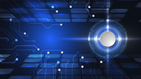Abstract user HUD interface from futuristic elements. High-tech digital network, communications, high technology.