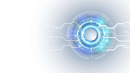 Abstract user HUD interface from futuristic elements.High-tech digital network, communications, high technology