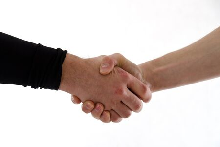 Handshake of two men Stock Photo - 11871590