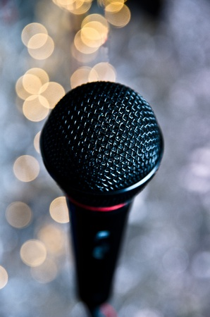 Picture of scenic microphone  photo