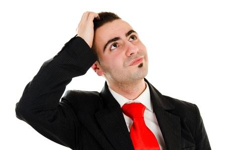 Businessman has an idea Stock Photo - 12586452