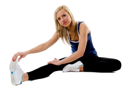 Woman Doing Sit Ups  and side crunches photo