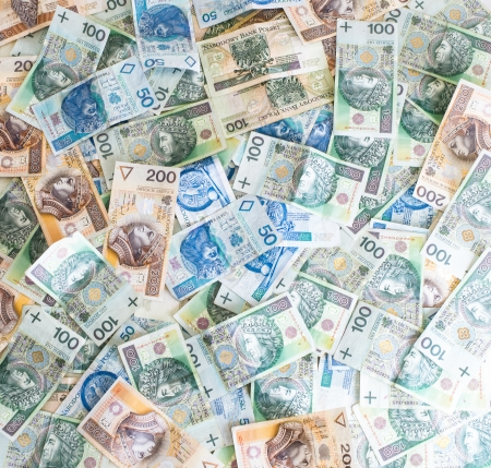 Wallpaper of Polish money - Polish zloty photo