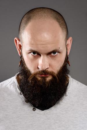 long beard: portrait of long beard and mustache hipster