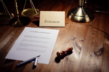 Testament ready to be signed in notaries public office