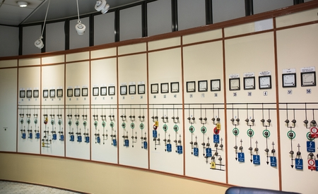 Control room in old thermal power plant Editorial