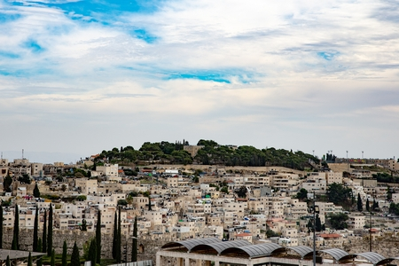 Jerusalem heights with Jewish settlements. Jerusalem, Israel