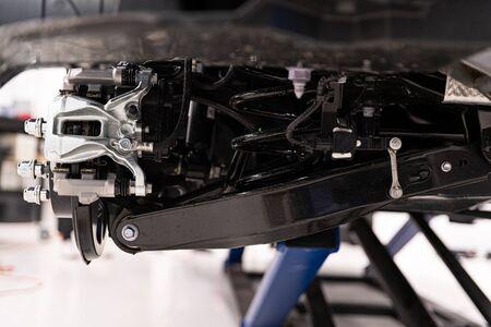 Car suspension and braking disc. Car service 写真素材