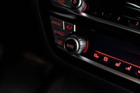 Automatic air conditioner control panel in car