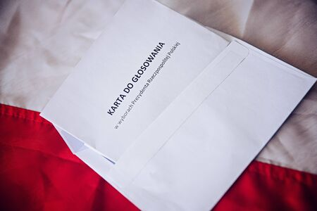 Ballot paper in president elections in Republic of Poland in Polish language. 版權商用圖片