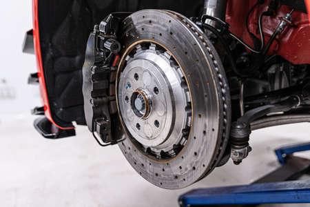 Modern sports car braking system and suspension. Stock fotó