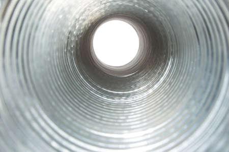 Corrugated pipe for ventilation 版權商用圖片