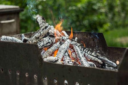 Charcoal, barbecue, brazier, fire