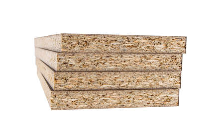 four chipboard on isolated white background