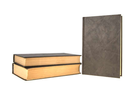 old brown book on isolated white background