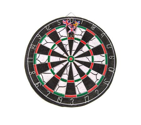 darts three darts in bulls eye 免版税图像