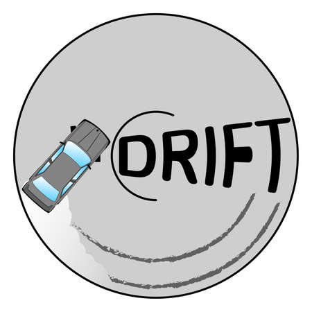 drift car logo driving in a circle