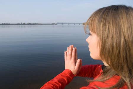 esot�risme: la m�ditation sur l'eau Banque d'images