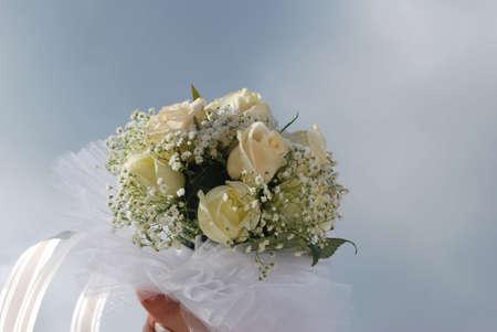 eligible: ramo de boda Foto de archivo