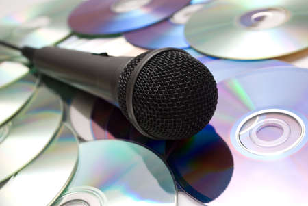 microphone and cd photo