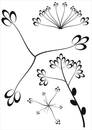 Floral collection Stock Vector - 4935443